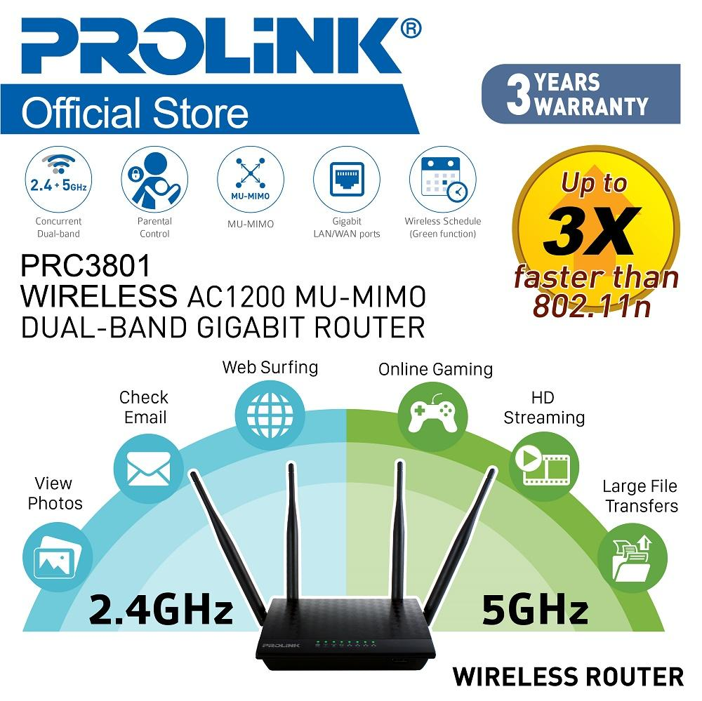 Routers For Sale Internet Prices Brands Specs In Tenda N301 Wireles Router 300mbps 4port 2 Antena Prolink Prc3801 Wireless Ac1200 Mu Mimo Dual Band Gigabit With Free Pmw5007