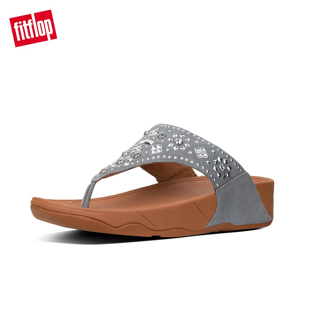 084d463c0539b Fitflop Women s Sandals K50 LULU AZTEK STUD TOE-THONG SANDALS - SUEDE  LEATHER DRESS lightweight