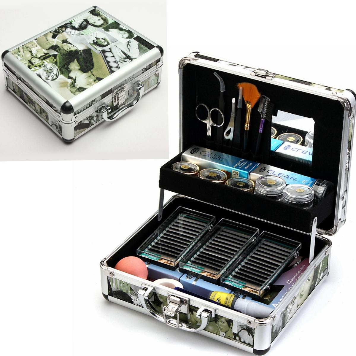 a4e4f13e2df Professional False Extension Eyelash Glue Brush Kit Set with Case ...