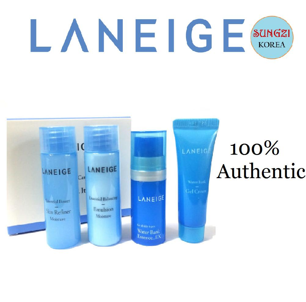Skincare Sets Brands Gift On Sale Prices Set Laneige White Plus Renew Trial Kit 4 Items Water Bank 4items Korean Cosmetics