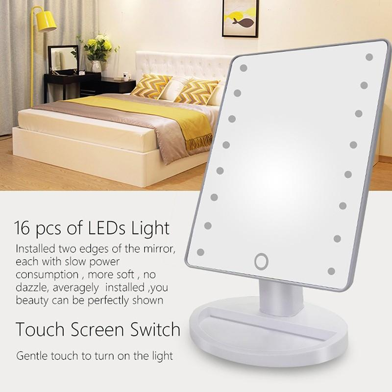 LED Touch Screen Makeup Mirror With 16 LED Lights (random color) Philippines