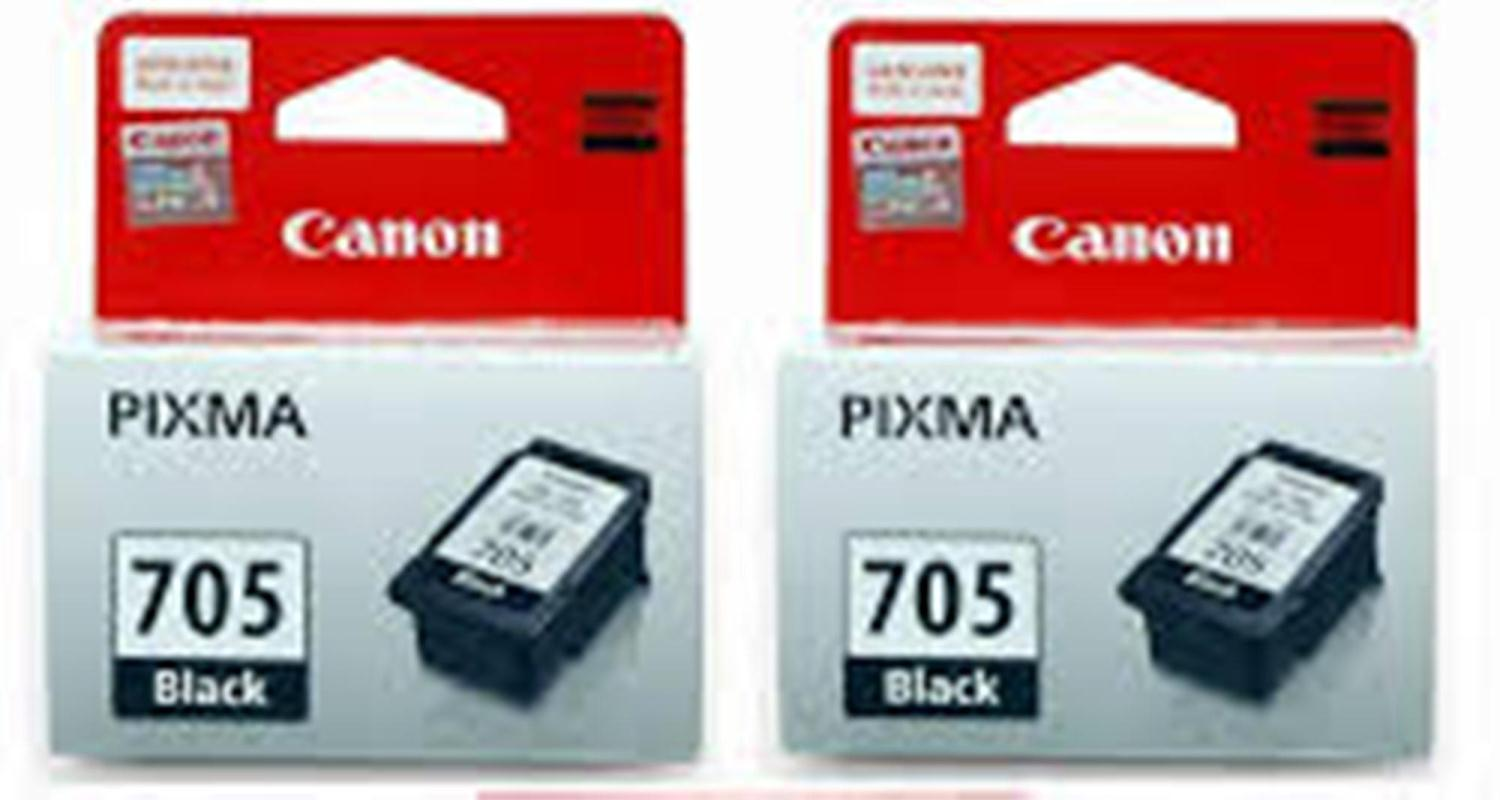 Canon PG-705 Black Original Ink Cartridge in 2 packs