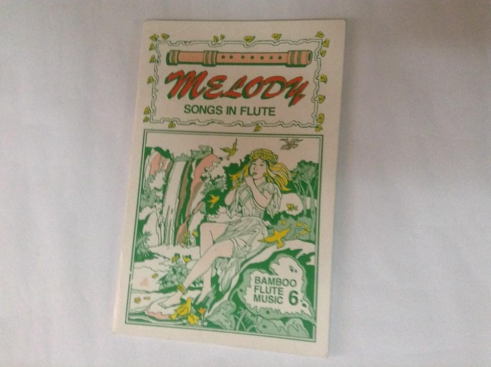 Kingflute Melody Music Book 6 (white) By Bamboo Instruments And Bamboo Products.