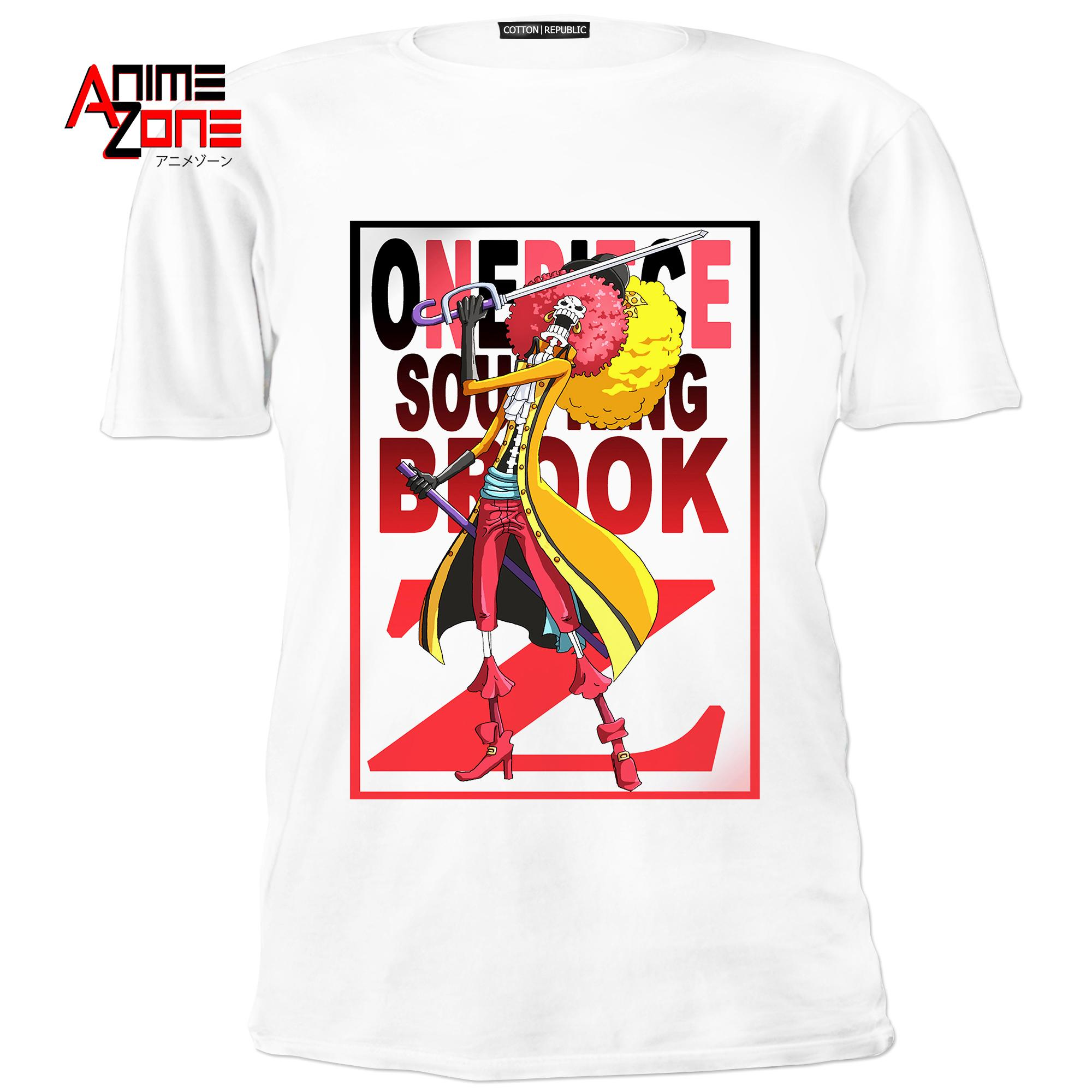6587a18d7 Anime Zone One Piece Film Z Edition Cotton Printed Unisex T-Shirt (White)