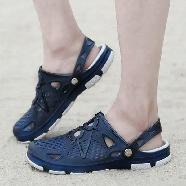 Mens Outdoor Jelly Sandal 802 (blue) By Double Winner.