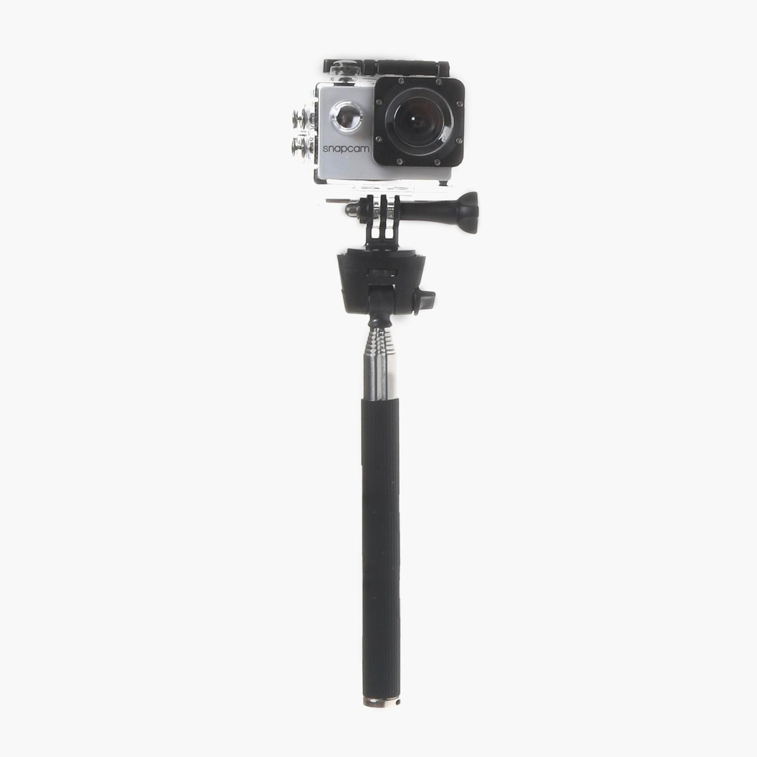 Snap Cam Camera With Waterproof Case And Monopod (silver) By The Sm Store.