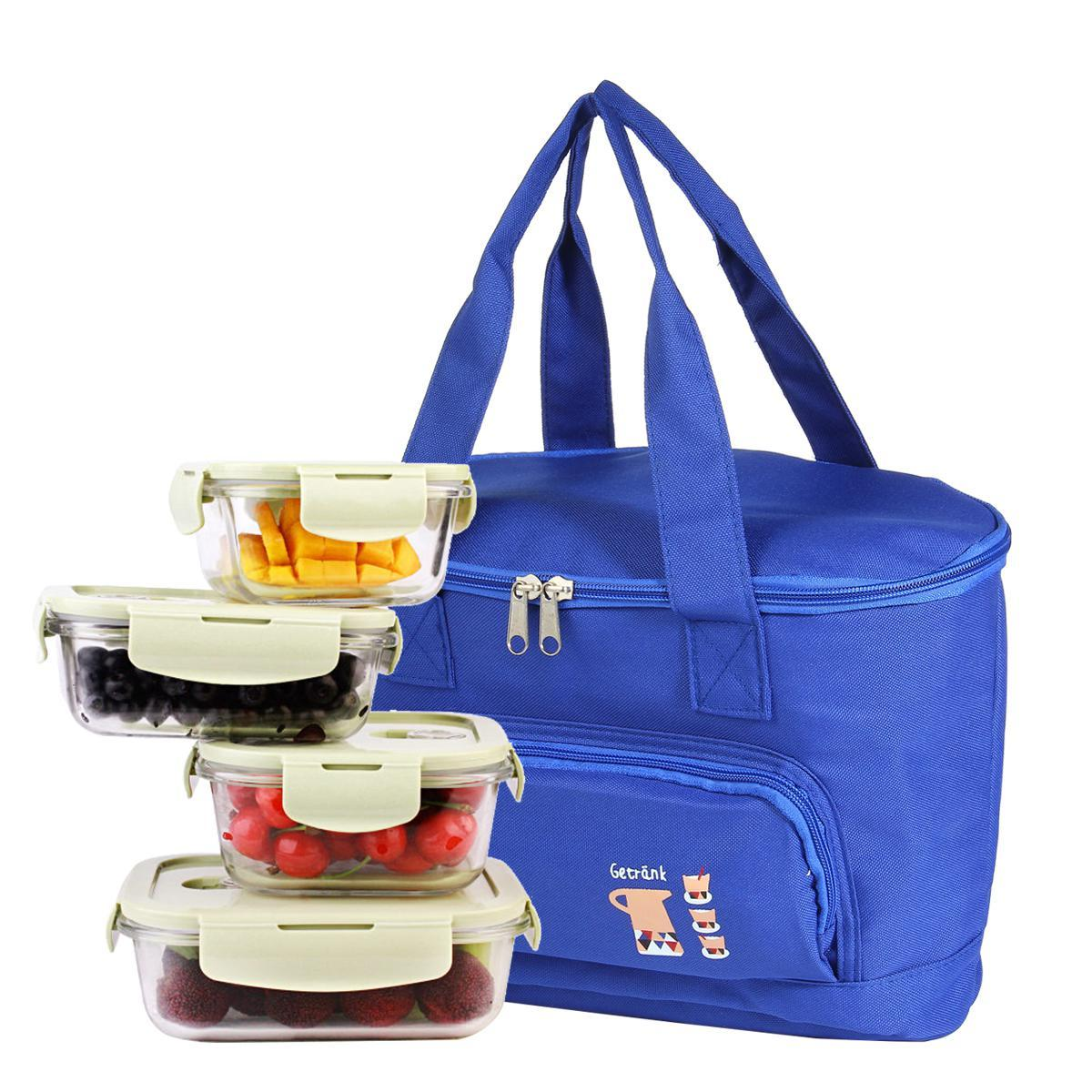 3024bfc0f4ce Eenten New Winter Warm Summer Cool Large Capacity Insulation Lunch Bag Men  and Women Lunch Box Bag