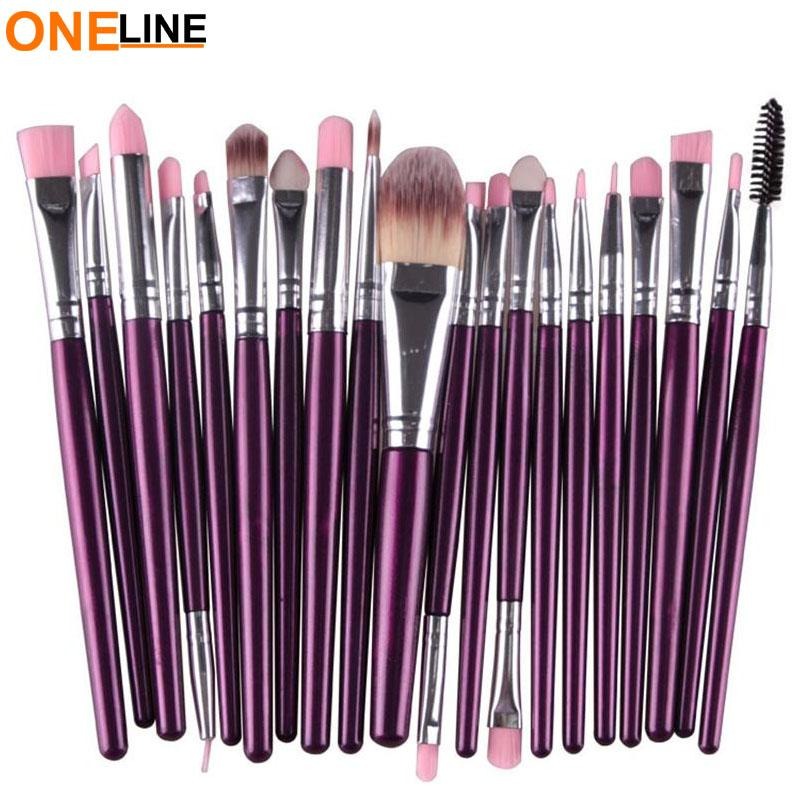 Oneline 20Pcs Makeup Brushes Set (violet) Philippines