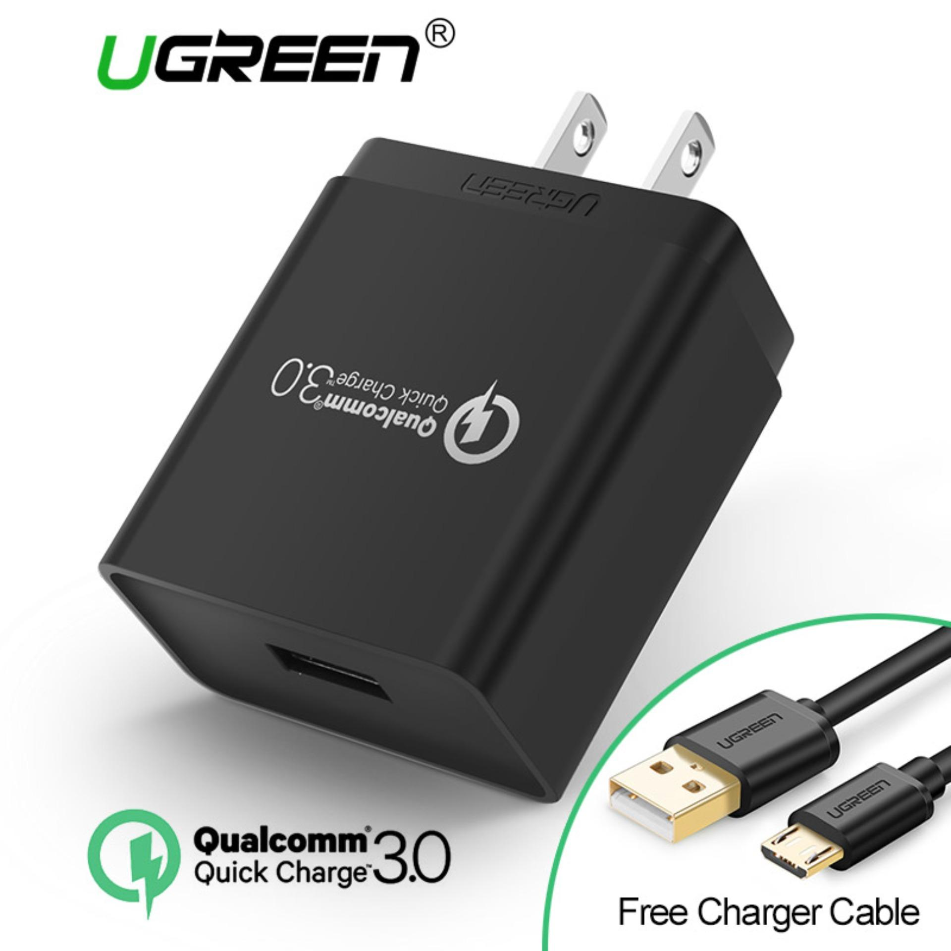 Usb Charger For Sale Travel Prices Brands Specs In Hub W Auto Power On Ugreen 2 Pin Us Plug Qualcomm Certified Quick 30 18w Wall With Free