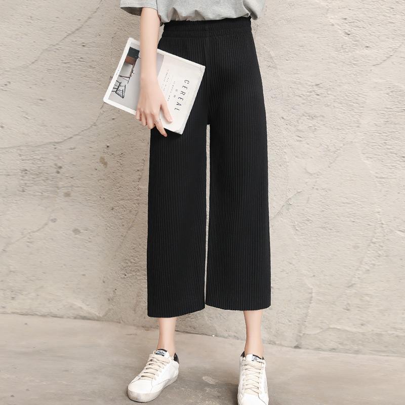 de1351e968a6 Versatile Pants Modern And Trendy women Loose Korean Style Ulzzang Capri  Straight Leisure Pleated Loose