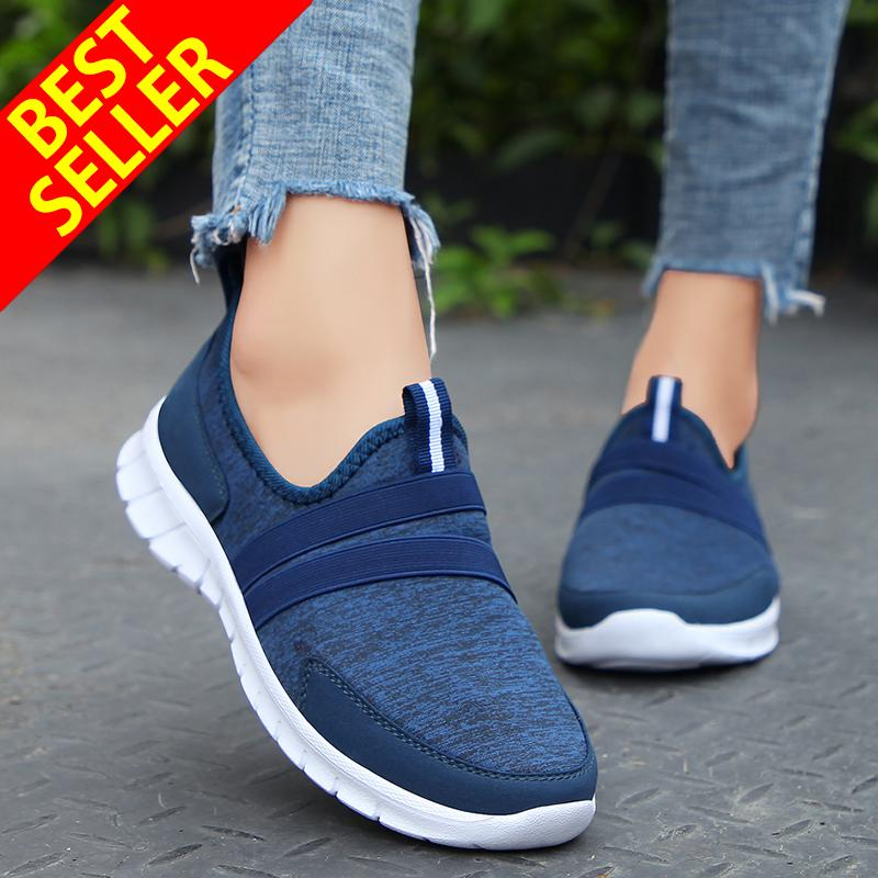 72b19bf14b QINGSHUI Women Sneakers Summer Breathable Casual Shoes Lady Walking Outdoor  Sport Comfortable Shoes- intl