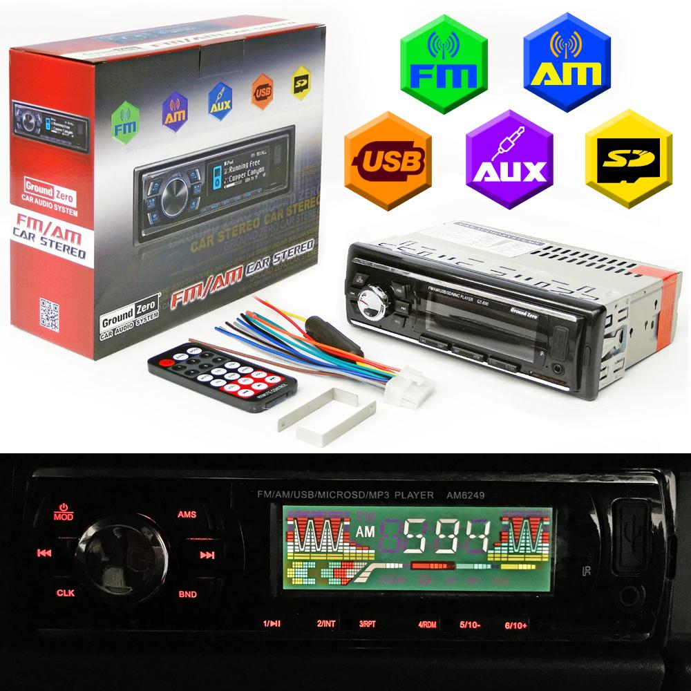 Car Stereo For Sale Cars Online Brands Prices 2007 Mazda 6 Radio Dash Kit On 1990 B2200 Wiring Diagram Ground Zero Fm Am Aux Sd Mp3 Audio
