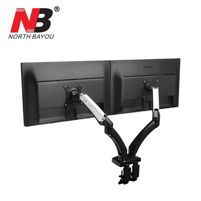 Nb F180 Gas Spring Full Motion 17-27 Dual Screen Monitor By Cybertech Sales And Marketing Corporation.