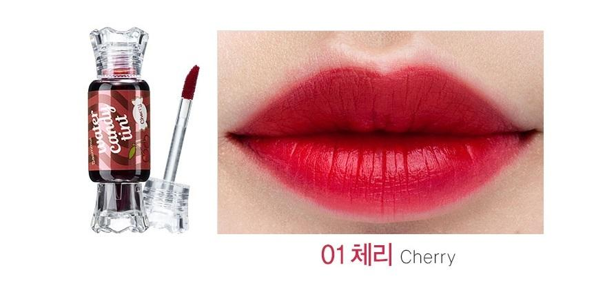THE SAEM SAEMMUL Water Candy Tint Design Cheek And Lip Tint (01 CHERRY)