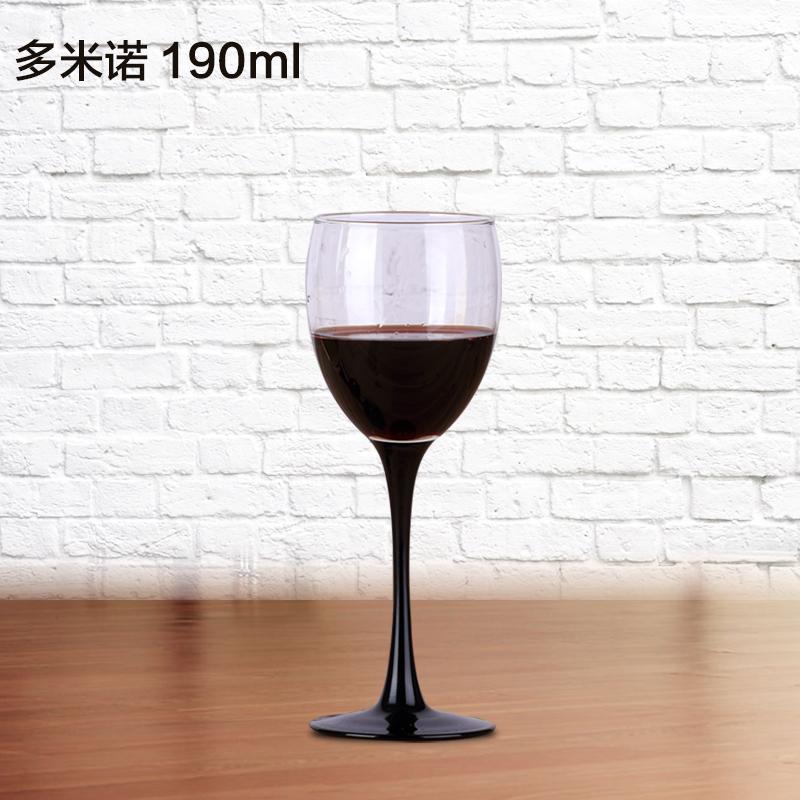 754175c8e2c7 Luminarc Wine Glass Cup Black Leg BORDEAUX Wine Glass Domino Wine Glass  Goblet Household