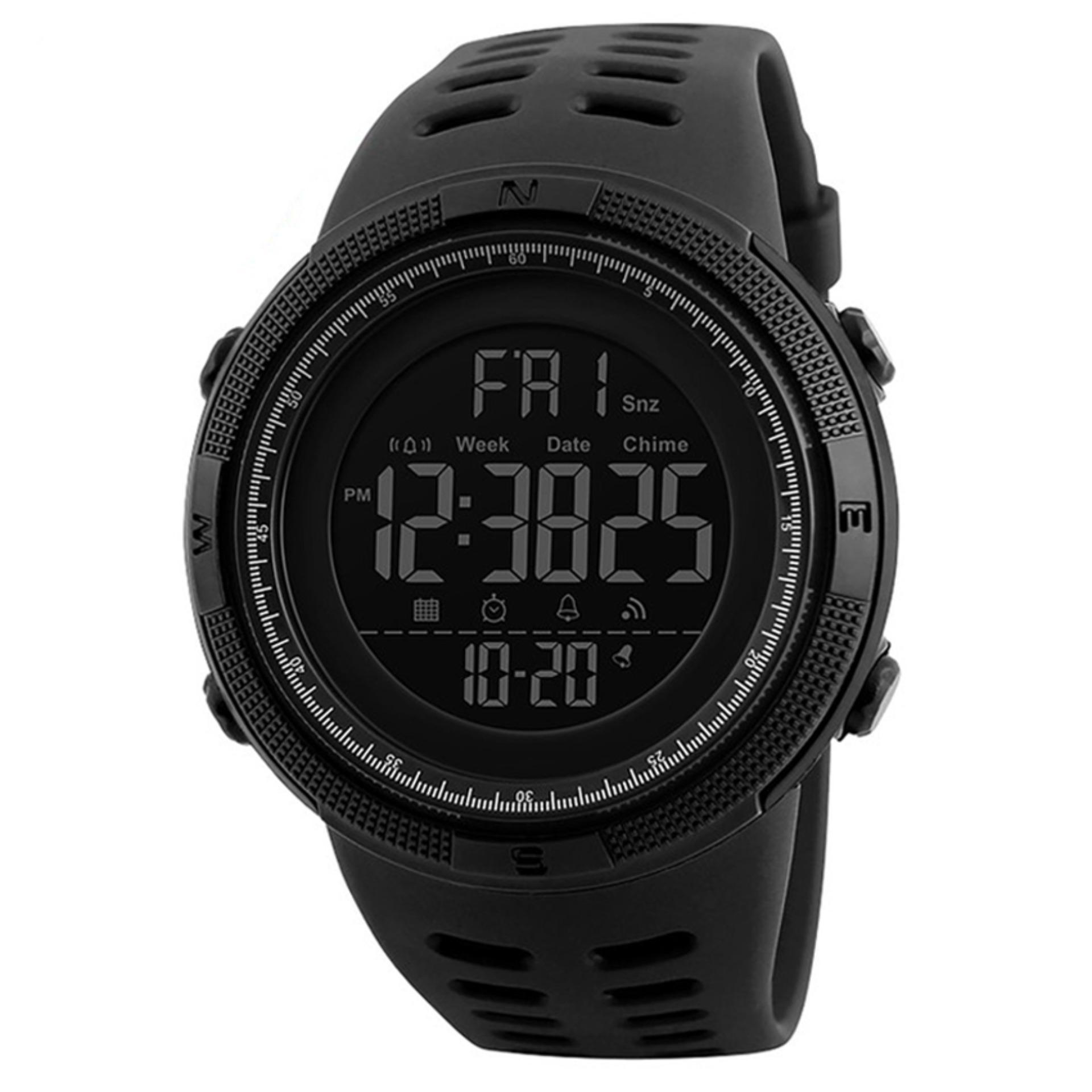 [100% Genuine]New SKMEI Men's Sports Watch Chronograph Alarm Clock Digital Watch 50M