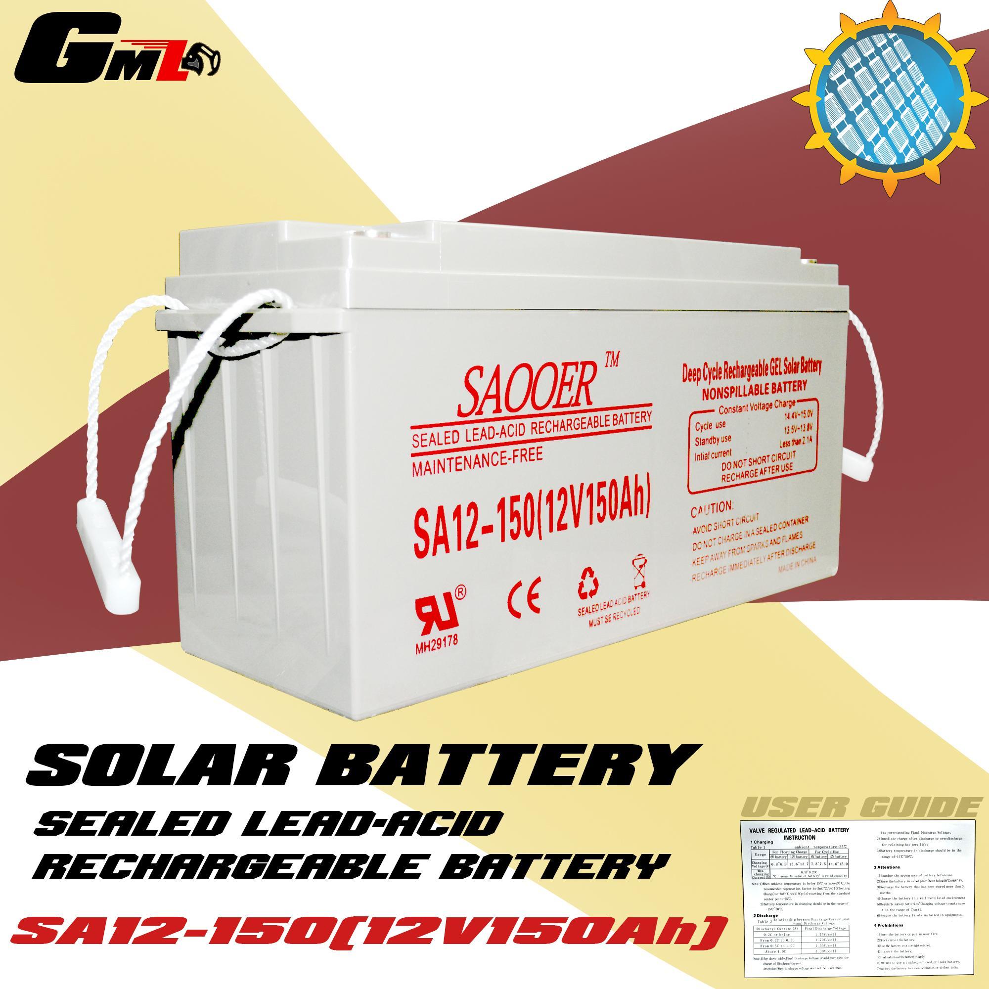Solar Philippines Price List Led Light Set For Sale Lazada Christmas Lights Circuit 555 Aquarium Lighting New Sa12 15012v150ah Saooer Sealed Lead Acid Rechargeable Battery