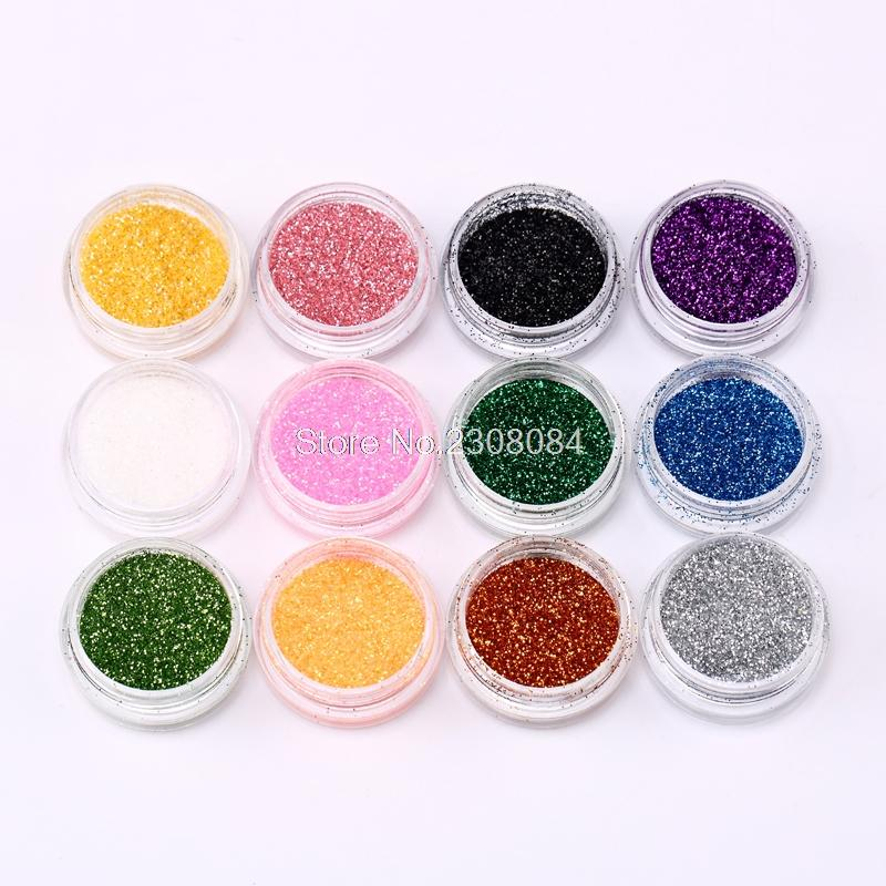 12 Color Random Nail Glitter Powder with box Decor Accessories Dust Bottle Set Bling Mirror Gorgeous Nail Art Sequins Philippines