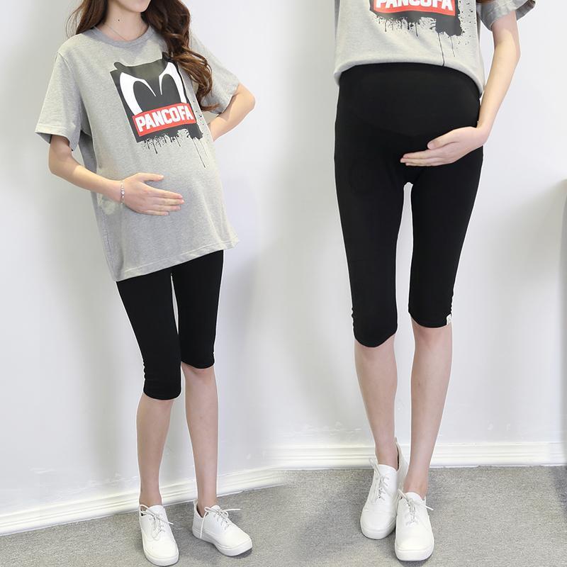6f95fc693bd4d Pregnant women Pants Summer Outer Wear Thin Capris Summer Modal Leggings  Pregnant Women Maternity Pants Capri Shorts