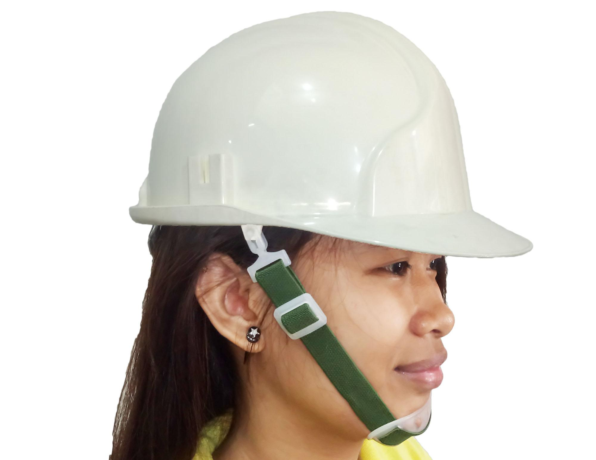 Meisons hard hat safety helmet ABS WHITE ratchet liner and chin strap Philippines