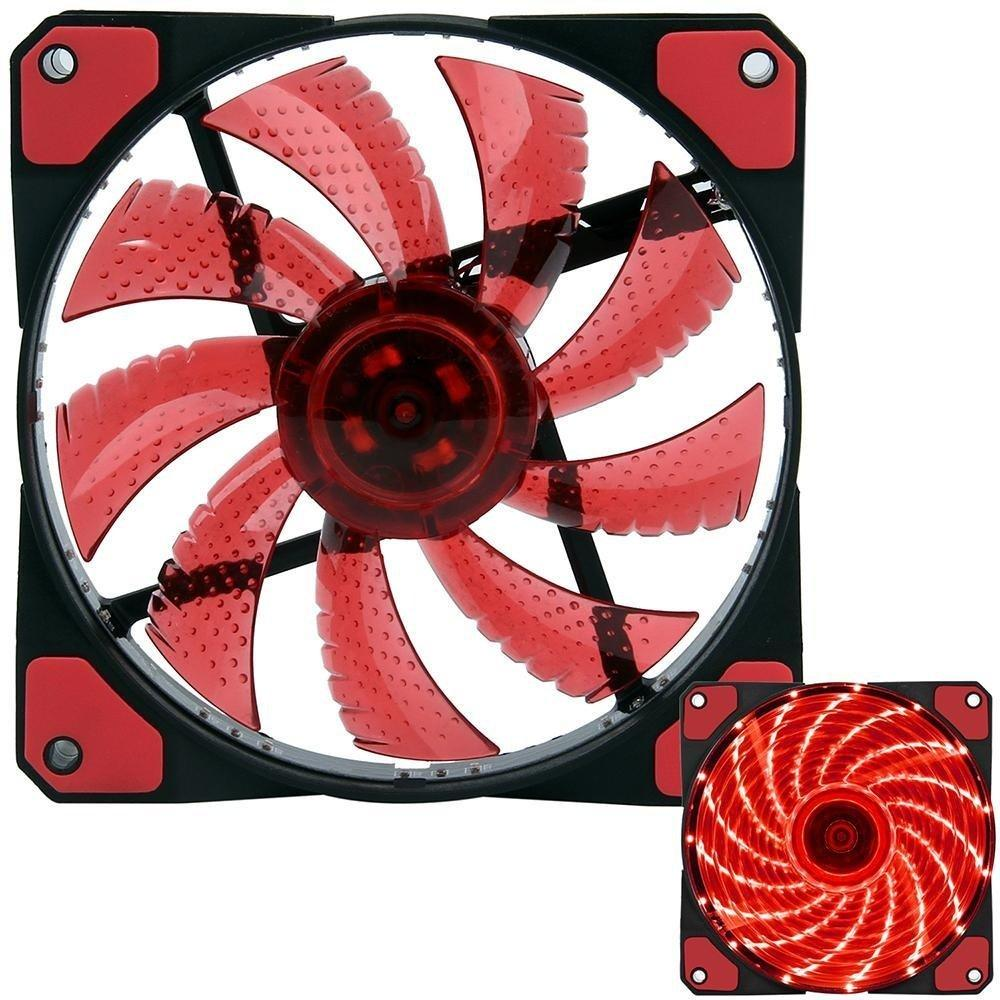Cpu Led Fan 120mm Case Chassis Cooling Led Fan 4pin Molex (red) By Mikatech Marketing.