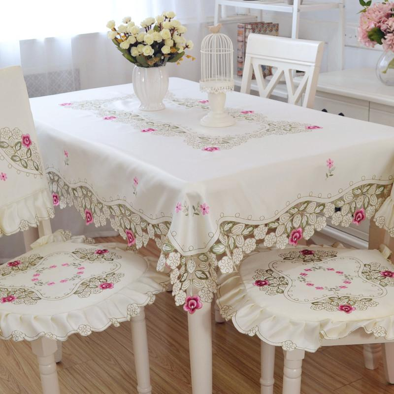 Floral Garden Square Heat Resistant Tablecloth Dining Table Cloth Kitchen  Table Linen Table Cloths Runners