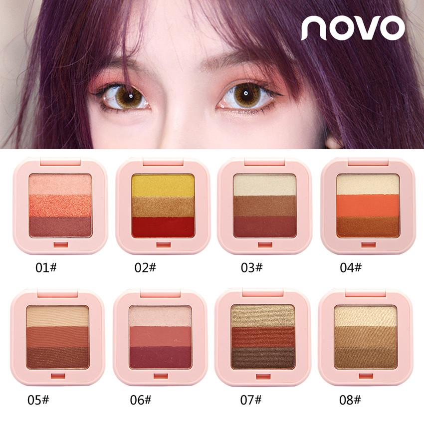 Korea NOVO 3 Colors Tone Gradient Eye Shadow Makeup #5210 Philippines