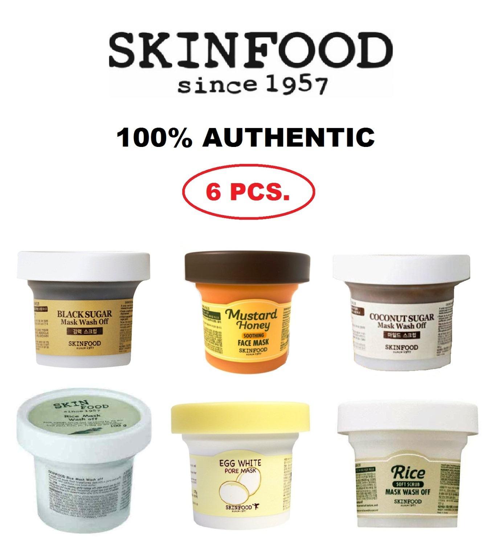 Buy Sell Cheapest Skinfood Mask Wash Best Quality Product Deals Skin Food Black Sugar Honey Off 100gr Set Of 6 Korean Cosmetics