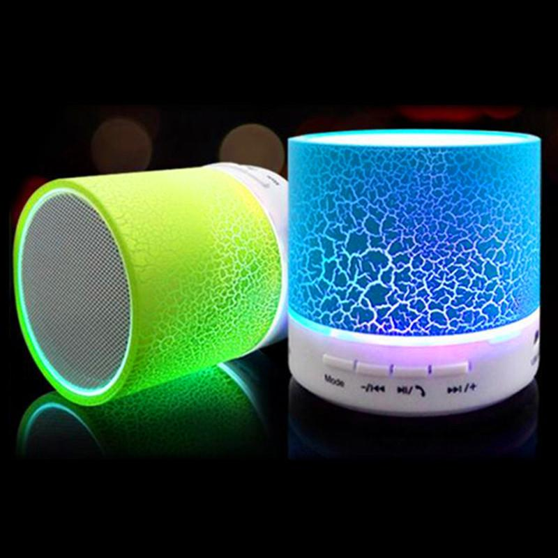 A9 Mini Wireless Bluetooth Speaker Portable Subwoofer Stereo Music Player with TF Slot USB LED Light