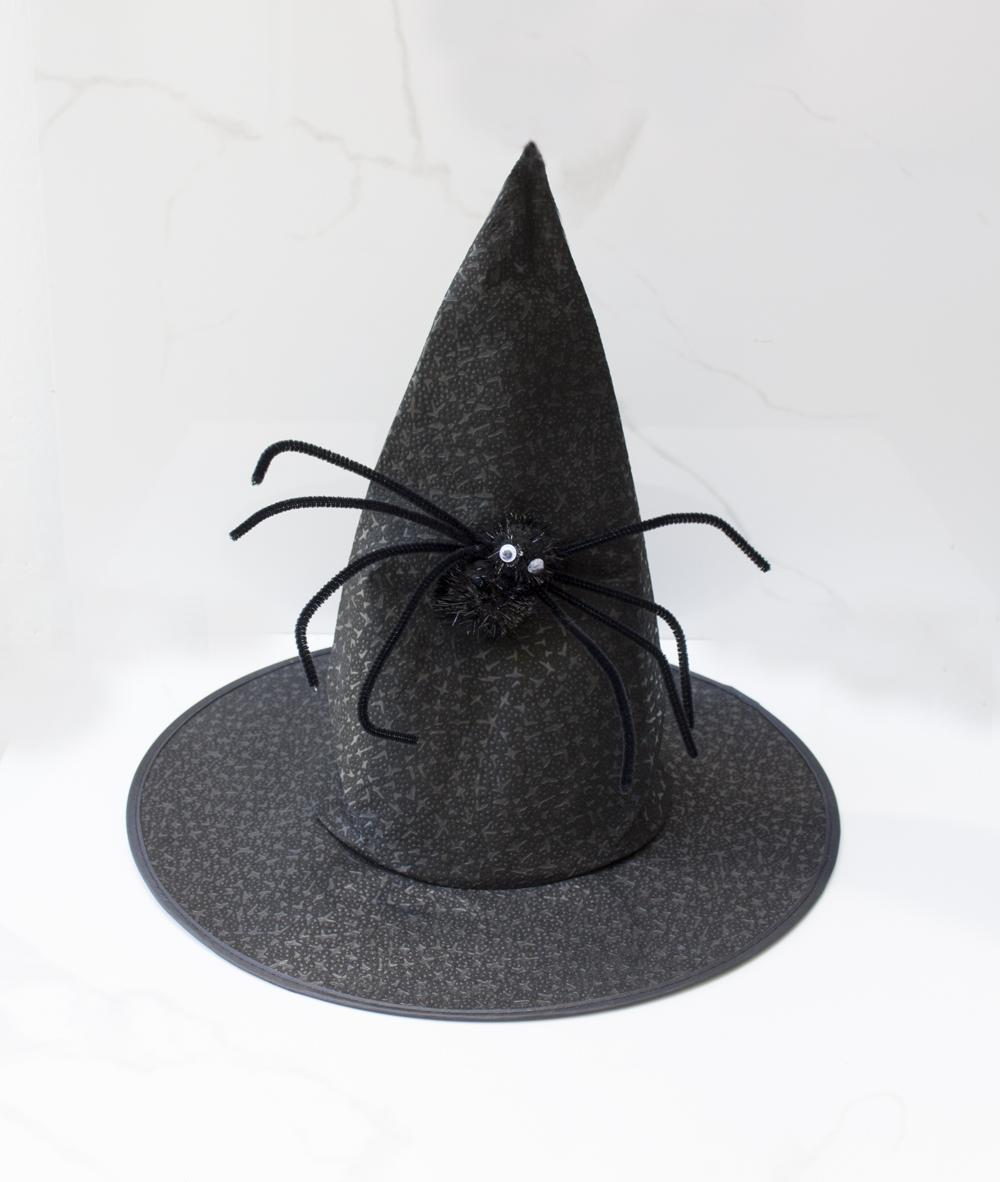 Halloween Hat Witch With Spider (black) By Db.