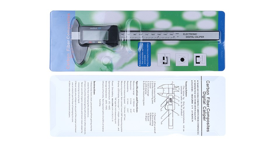 Newest Syntek Measuring Tool Promotion Digital Micrometer 100/150mm 6 Inch  LCD Digital Electronic Carbon Fiber Vernier Caliper Gauge Micrometer