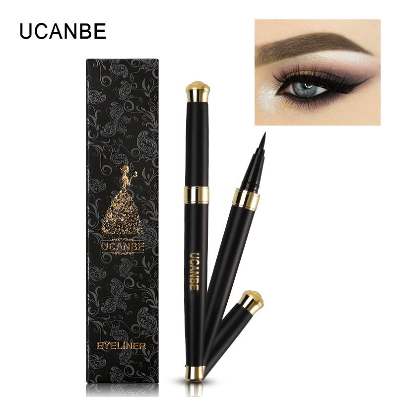 UCANBE Professional Long Lasting Eyeliner Pencil Waterproof Black Silky Liquid Eye Liner Pen Quick-Dry Makeup Delineador Kit Philippines