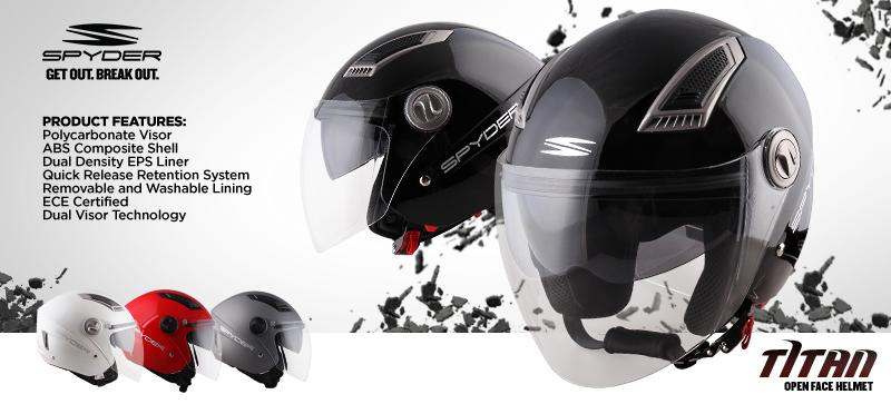 62885580 Product details of Spyder Open-Face Helmet with Dual Visor Titan PD Series 0