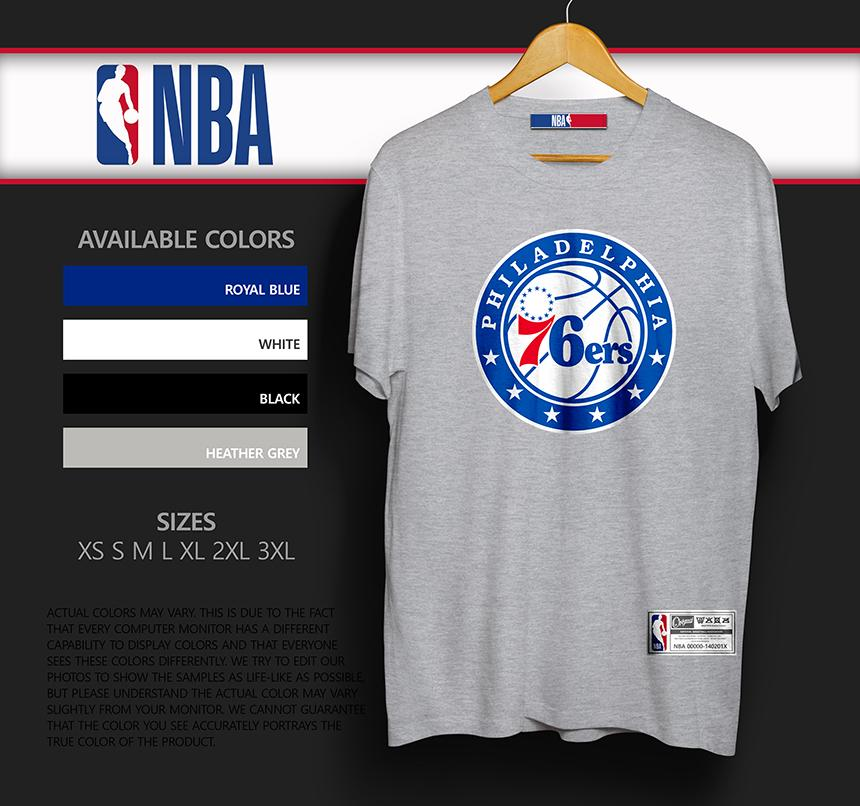 new product 38f01 21a2f NBA Tee 76SERS Philadelphia Sixers