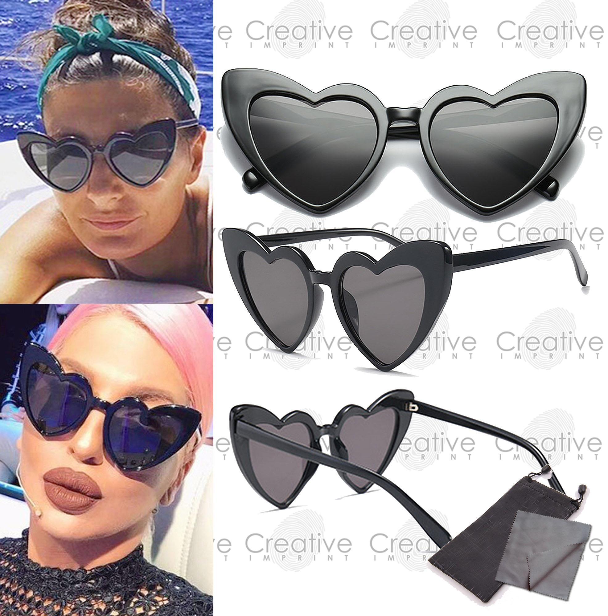 8818482d807 Creative Imprint Heart Love Retro Summer Tinted Sunnies High Fashion Trendy  Korean Sunglasses Shades FREE Case