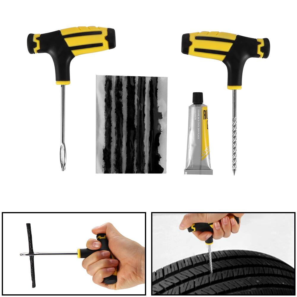 Carzkool Auto Car Tubeless Tyre Puncture Plug Repair Tools Kit Car Tire Repairing Tools Fast Puncture Plug Repair Block By Powerful-Enterprise.