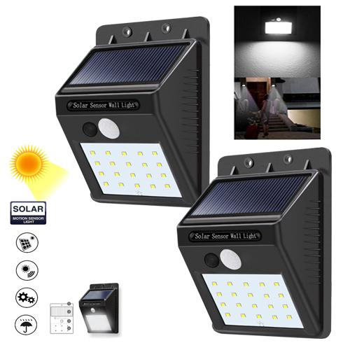 Outdoor lighting for sale outdoor lights prices brands review set of 2 sensor wall light 20 led outdoor waterproof rechargeable solar power pir motion garden aloadofball Images