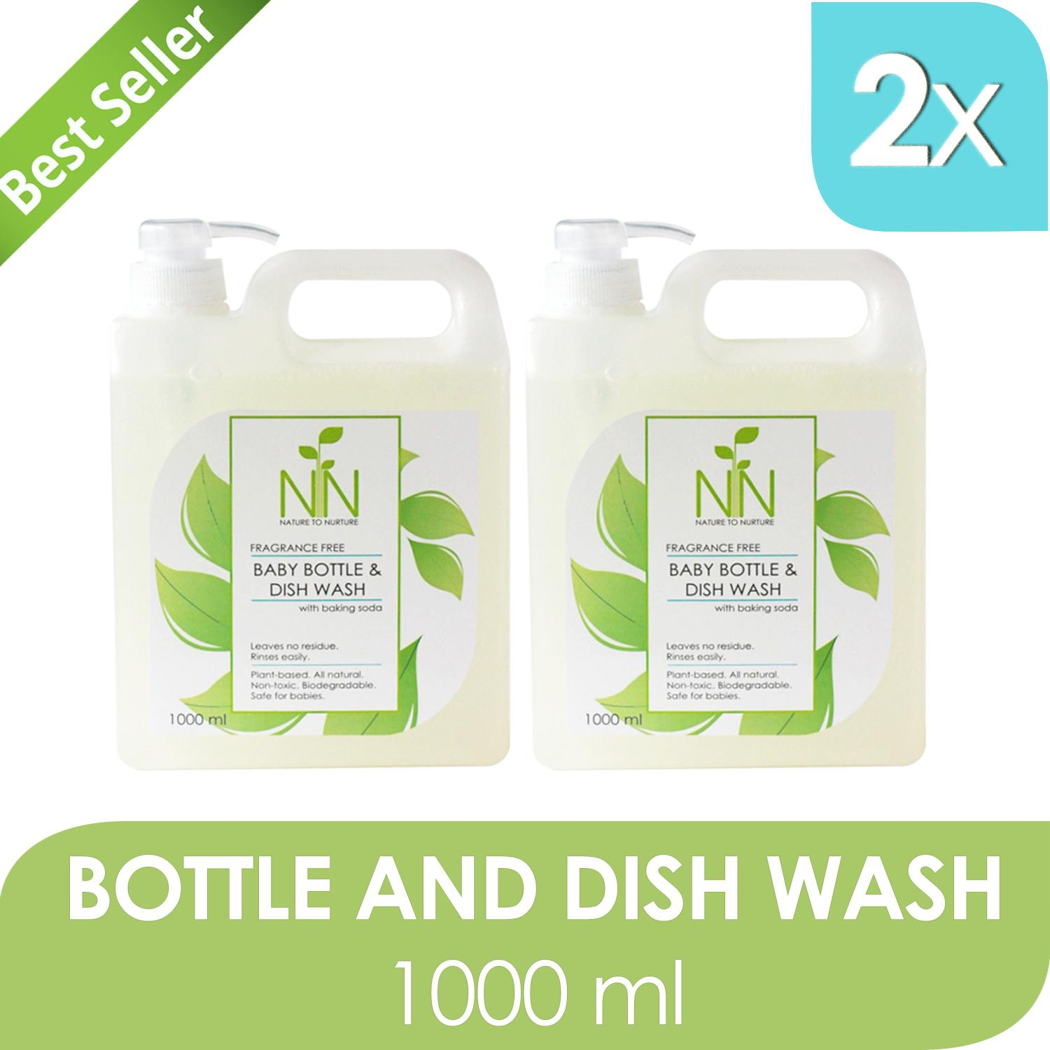 Nature To Nurture Baby Bottle And Dish Wash 1000ml, Set Of 2 By Nature To Nurture.