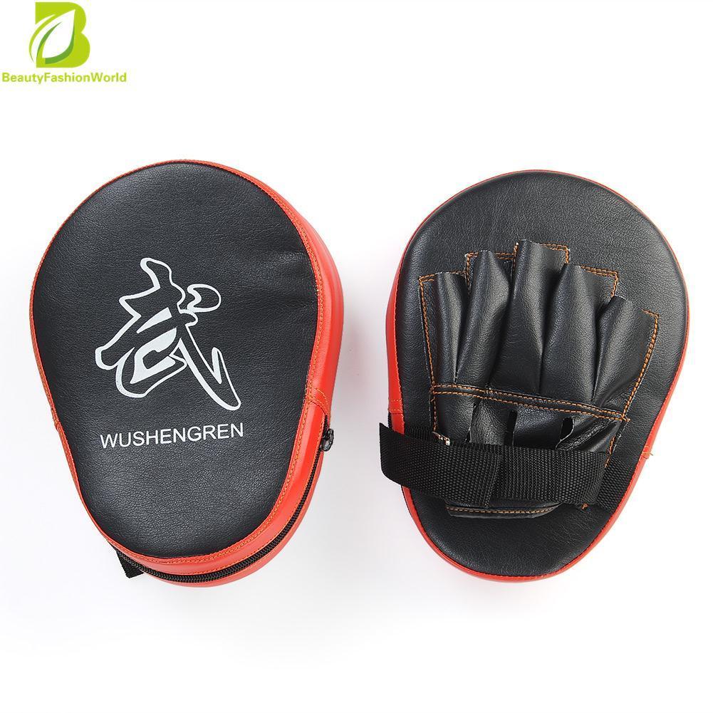 2X Boxing Mitt MMA Target Focus Punch Pad Training Glove Karate Muay Thai  Kick ac16dfc8911bc