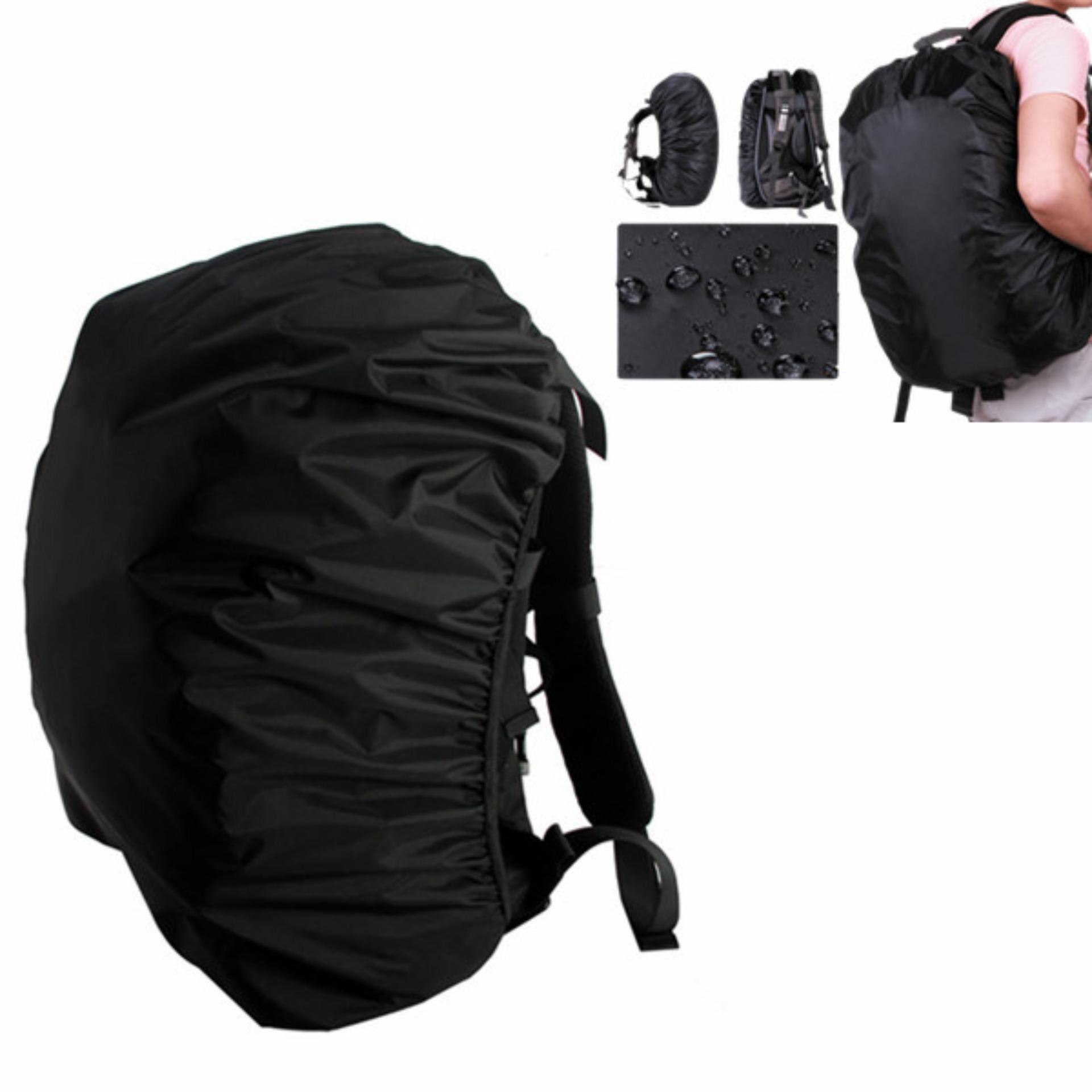 f882c4b068d6 Outdoor Waterproof Backpack Rucksack Rain Cover Bag Rainproof Pack Cover  for Camping Hiking (Black)