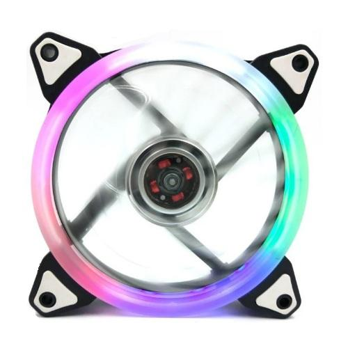 120mm Case Chassis Cooling Ring Led Fan 4pin + 3pin Molex (rgb) By Mikatech Marketing.