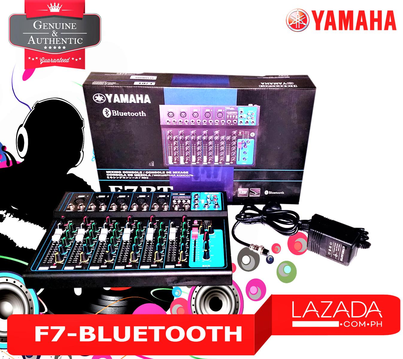 Yamaha F7-USB-BLK 7 Channel Professional Mixer MP3 player with USB port,  Bluetooth (Black)