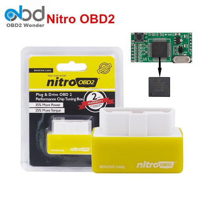 Nitro Obd2 For Petrol Car Chip Performance Tuning Plug & Play Auto Ecu Remap Brand New(yellow)[benzine Cars][100% Original] By Letgo-Ph.