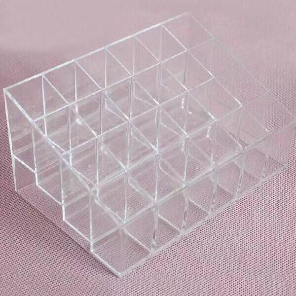 24 Trapezoid Clear Makeup Display Lipstick Case Cosmetic Organizer Holder Philippines