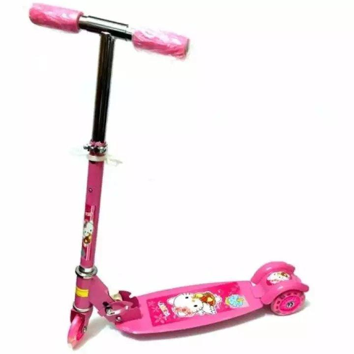 Quality Ride-On Push Scooter For Kids With Laser Wheel (pink) By Lazest Shopping.