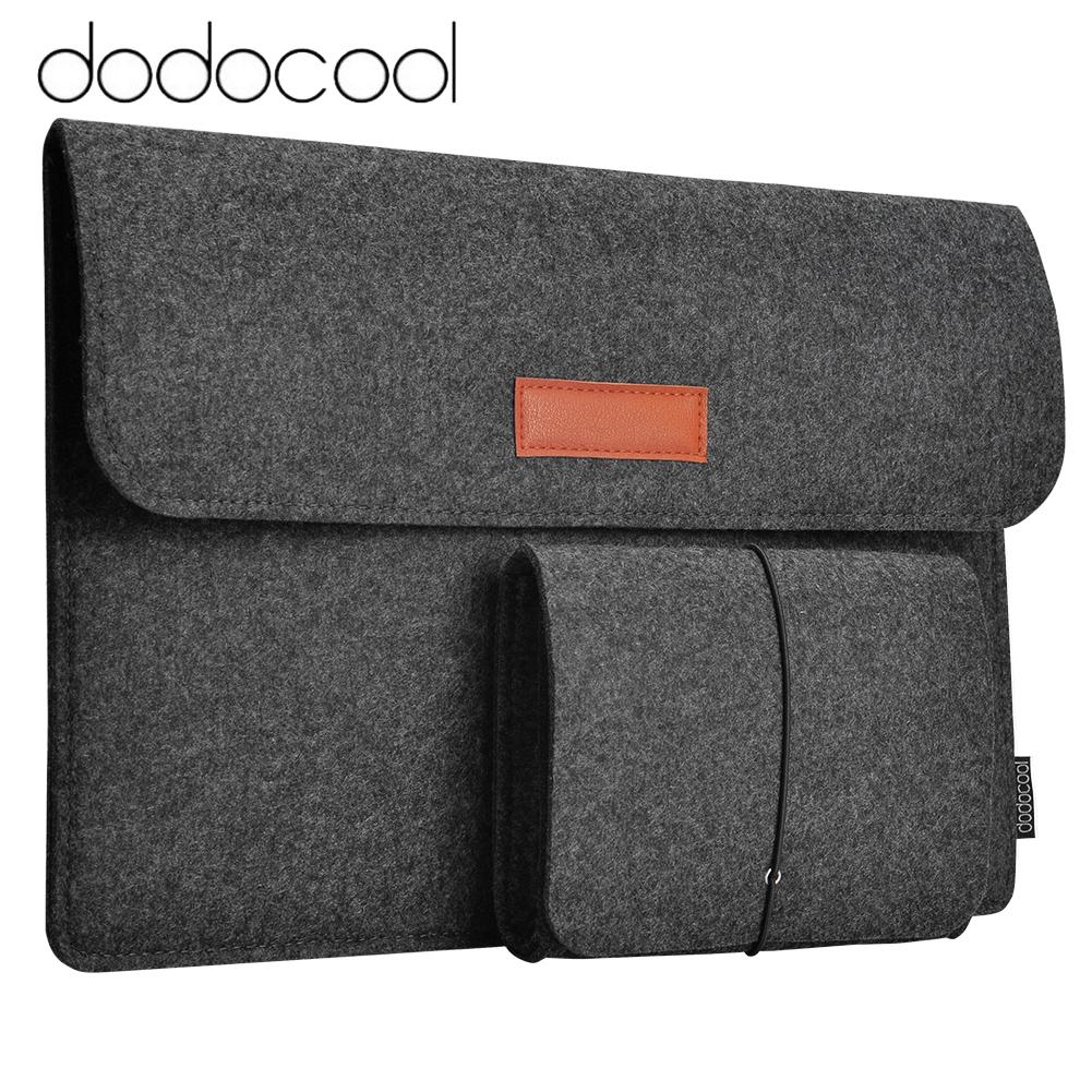 Dodocool 13.3-Inch Felt Sleeve Cover Carrying Case Protective Bag 4 Compartments With Mouse Pouch For Apple 13 Macbook Air / 13 Macbook Pro / 13 Macbook Pro With Retina Display And Most Popular 13-13.3 Inch Laptop And More Dark Gray - Intl By Tomtop.