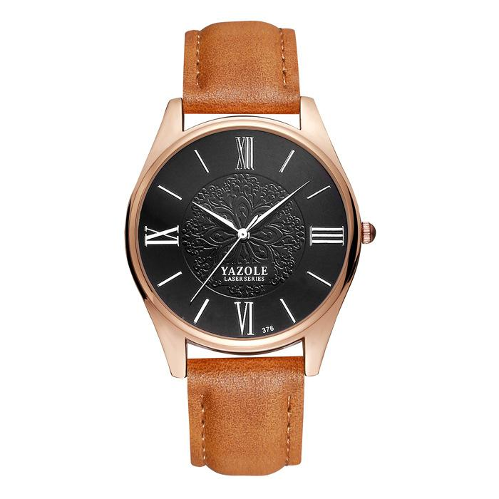 ecba1a6f73 Yazole Top Brand Luxury Fashion Quartz Watch Casual Male Clock Quartz-watch  Floral Business Men
