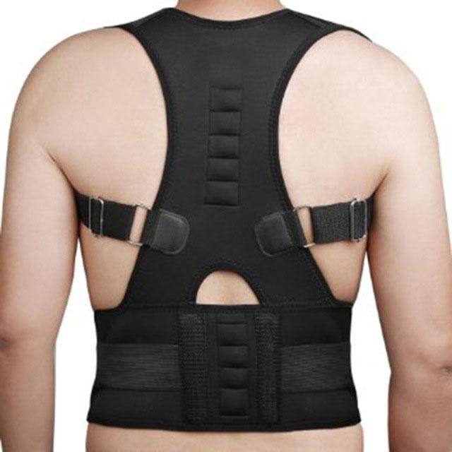 3ad9fffd63e Adjustable Magnetic Therapy Posture Corrector Brace Shoulder Back Support  Belt for Male Female Braces and Supports