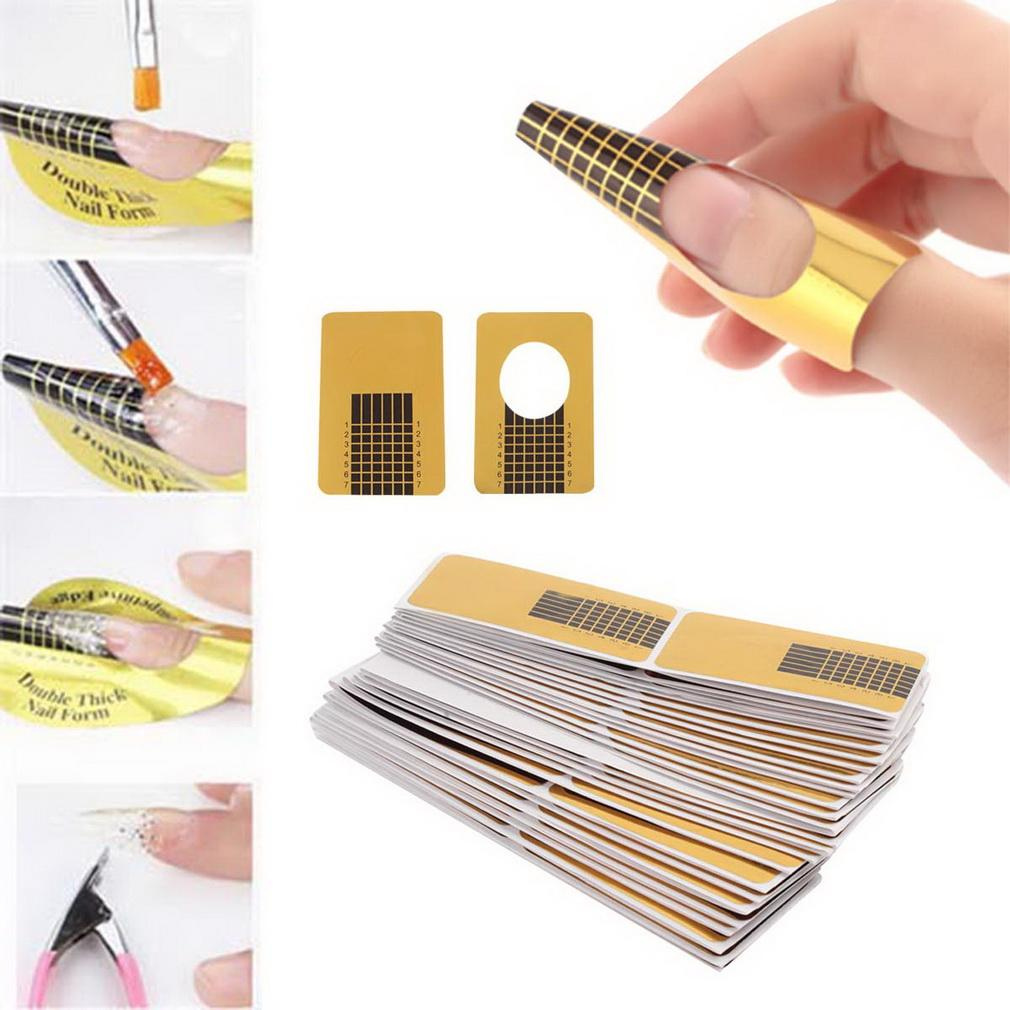 100pcs Nail Art Form Guide for Acrylic UV Gel Tips Extension Art Nail Tools Philippines