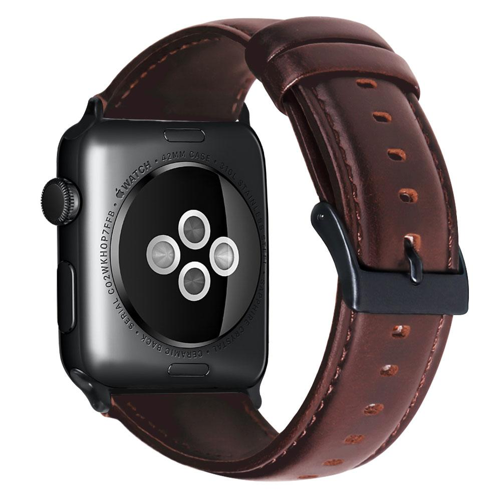 niceEshop For Apple Watch Band 38mm/42mm Genuine Leather Replacement Strap For Iwatch Band With